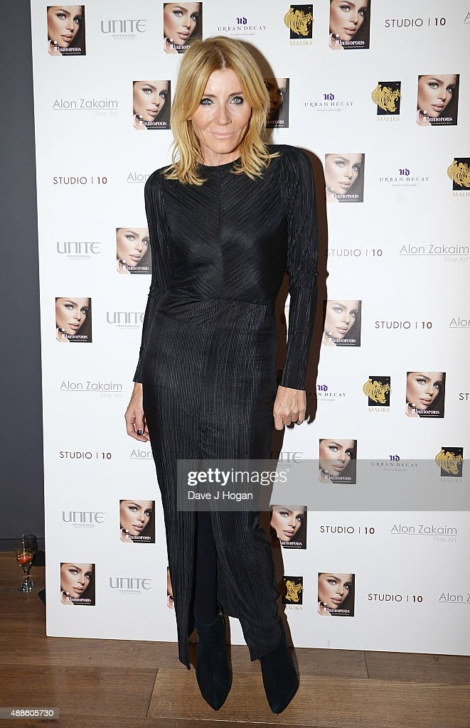 Michelle Collins attends the book launch party for 'Simply Glamorous' By Gary Cockerill at Alon Zakaim on September 16, 2015 in London, England.