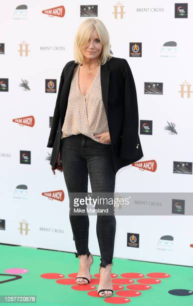 Michelle Collins attends the Break DriveIn World Premiere at Brent Cross Shopping Centre on July 22 2020 in London England
