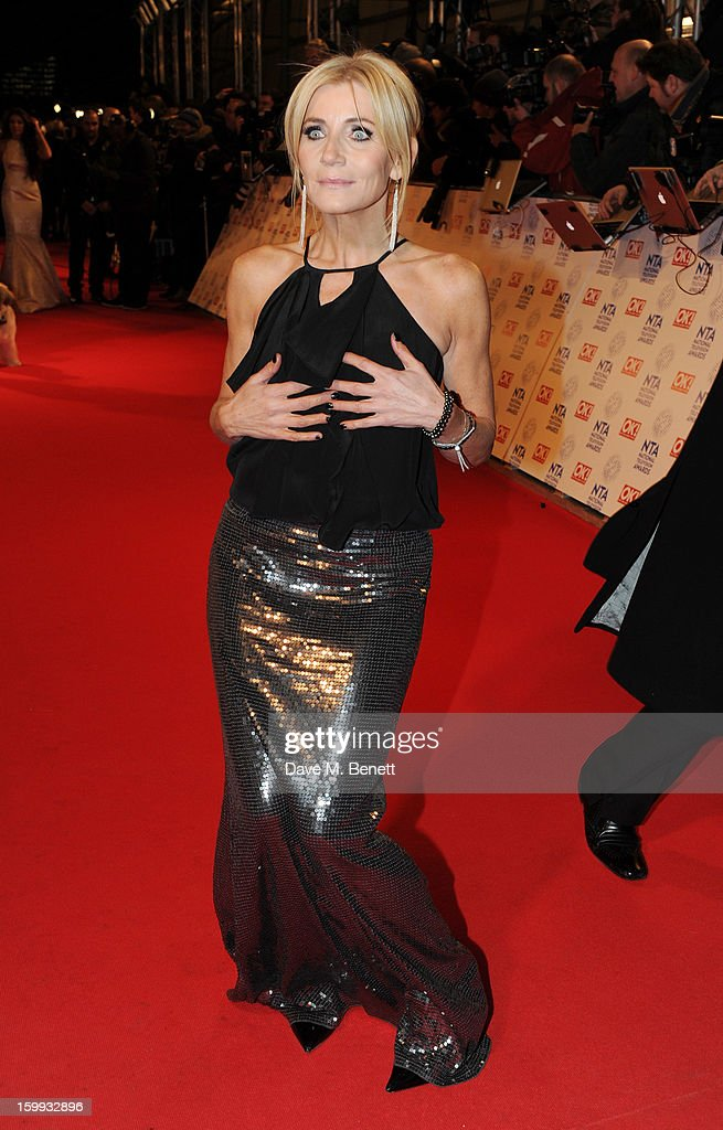 Michelle Collins attends the the National Television Awards at 02 Arena on January 23, 2013 in London, England.
