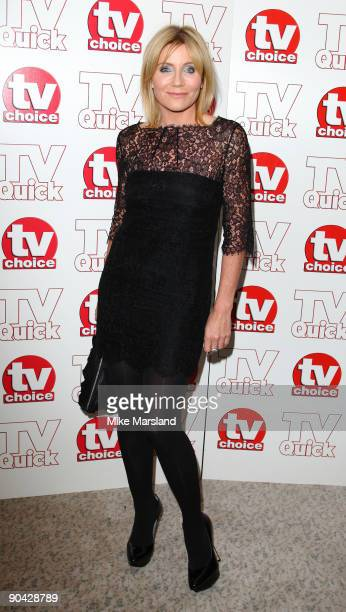 Michelle Collins attends the TV Quick Tv Choice Awards at The Dorchester on September 7 2009 in London England