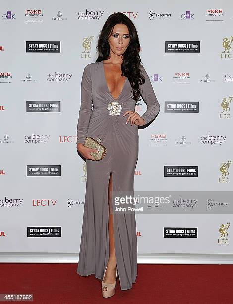 Michelle Dawson daughter of Les Dawson at the World Premiere of 'One Night In Istanbul' at Odeon cinema in Liverpool One on September 10 2014 in...