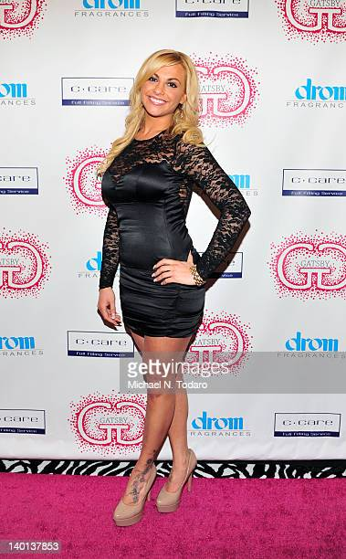 Michelle DeCarlo attends the Gatsby Haircare launch at DROM Fragrances on February 28 2012 in New York City