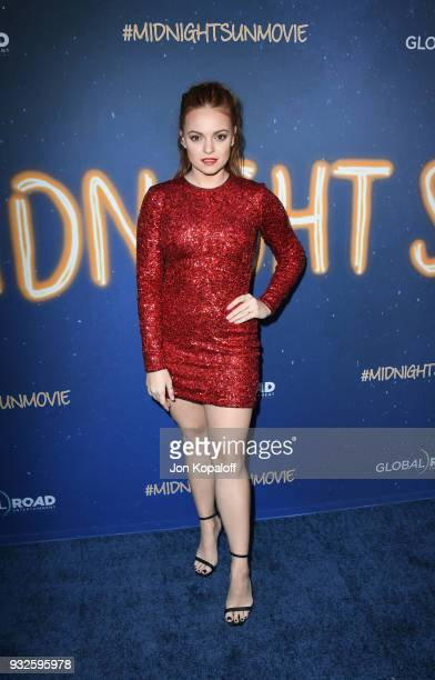 Michelle DeFraites attends Global Road Entertainment's world premiere of 'Midnight Sun' at ArcLight Hollywood on March 15 2018 in Hollywood California
