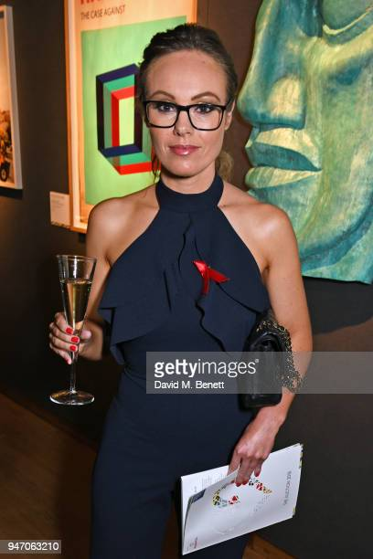 Michelle Dewberry attends the Terrence Higgins Trust annual charity auction raising vital funds to support people living with and affected by HIV at...