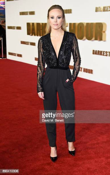 Michelle Dewberry attends the UK Premiere of Darkest Hour at Odeon Leicester Square on December 11 2017 in London England