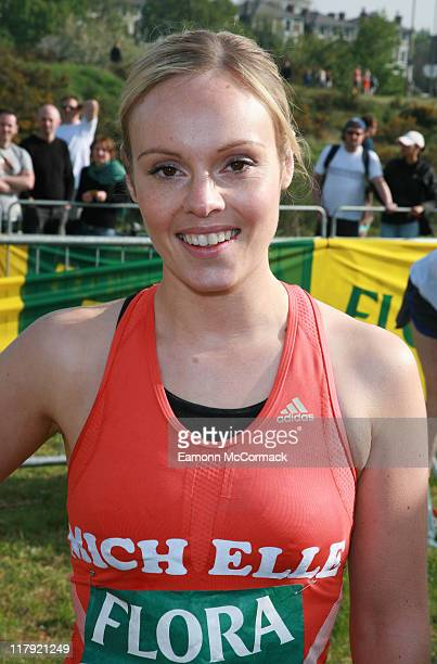 Michelle Dewberry during the Flora London Marathon 2007 in London England on April 22 2007