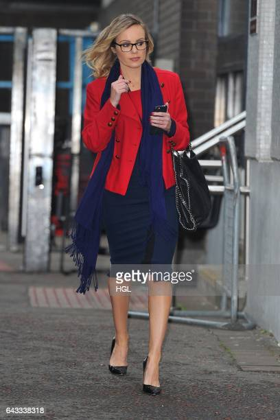 Michelle Dewberry seen at the ITV studios after appearing on the Lorraine show on February 21 2017 in London England