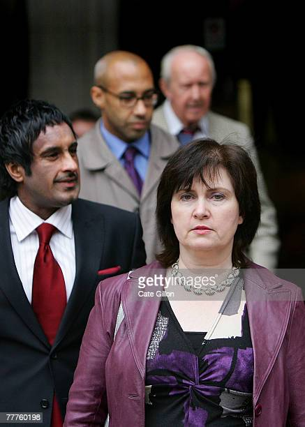 Michelle Diskin leaves the High Court on the last day of her brother Barry George's appeal against his conviction on November 7 2007 in London...