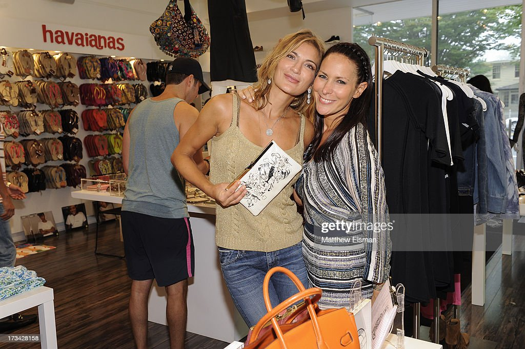 Michelle Dittrich (L) and designer Lori Levine attend Blue & Cream presents the Hamptons Summer Soiree with Comes With Baggage and Havaianas on July 13, 2013 in East Hampton, New York.