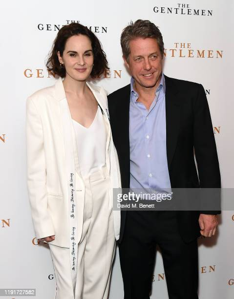 Michelle Dockery and Hugh Grant attend a special screening of The Gentlemen at The Curzon Mayfair on December 03 2019 in London England