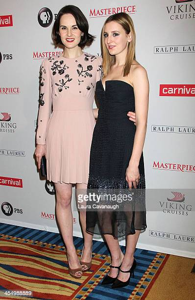 Michelle Dockery and Laura Carmichael attend the 'Downton Abbey' season four screening at the Millenium Hotel on December 10 2013 in New York City