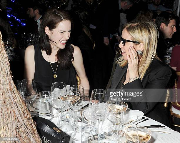 Michelle Dockery and Ronnie Newhouse attend a dinner following the Mulberry Autumn/Winter 2012 show during London Fashion Week at The Savile Club on...