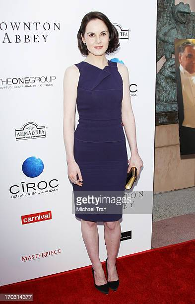 Michelle Dockery arrives at an evening with Downton Abbey held at Leonard H Goldenson Theatre on June 10 2013 in North Hollywood California