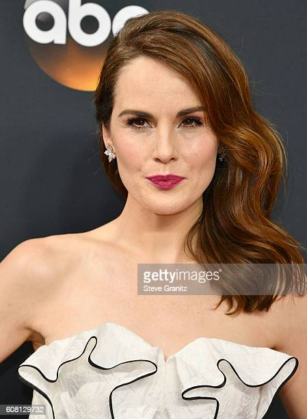 Michelle Dockery arrives at the 68th Annual Primetime Emmy Awards at Microsoft Theater on September 18 2016 in Los Angeles California