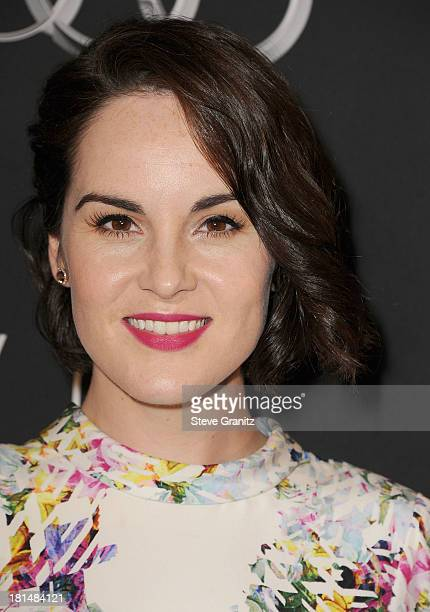 Michelle Dockery arrives at the BAFTA Los Angeles TV Tea at SLS Hotel at Beverly Hills on September 21 2013 in Los Angeles California