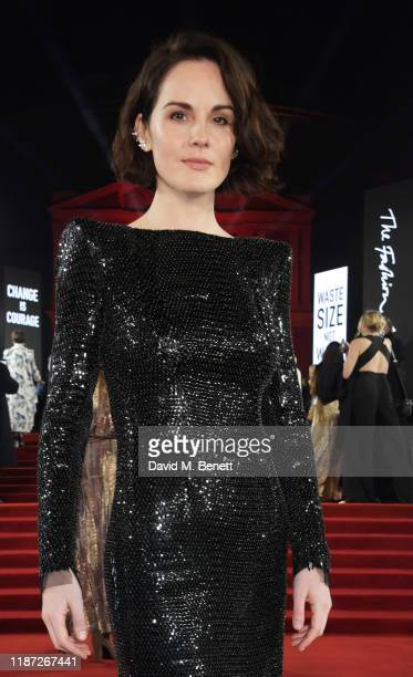 Michelle Dockery arrives at The Fashion Awards 2019 held at Royal Albert Hall on December 2 2019 in London England