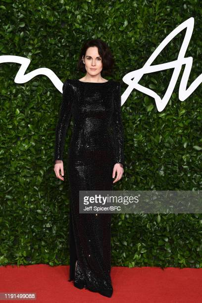 Michelle Dockery arrives at The Fashion Awards 2019 held at Royal Albert Hall on December 02 2019 in London England