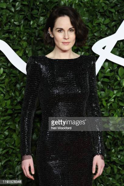 Michelle Dockery arrives at The Fashion Awards 2019 held at Royal Albert Hall on December 02, 2019 in London, England.