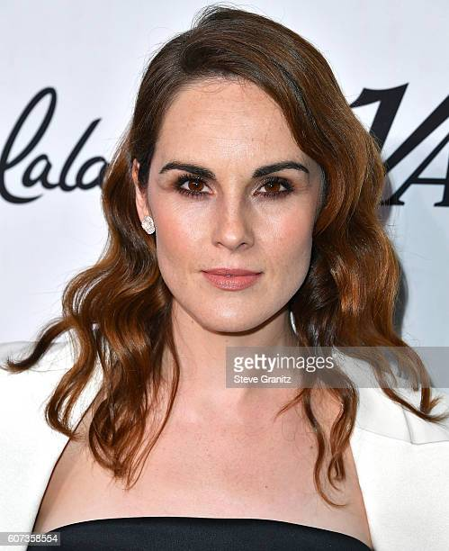 Michelle Dockery arrives at the Variety And Women In Film's PreEmmy Celebration at Gracias Madre on September 16 2016 in West Hollywood California