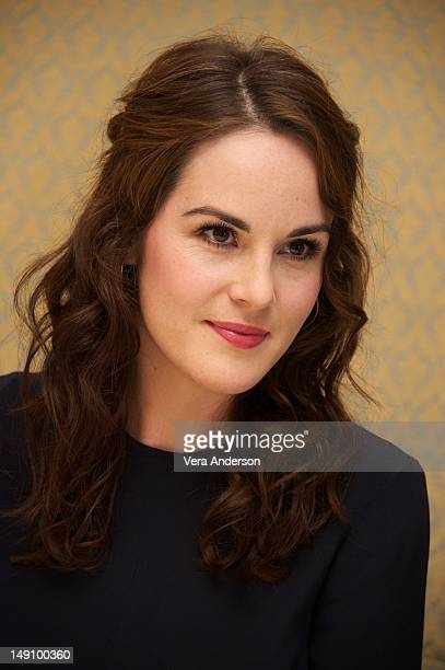 Michelle Dockery at the 'Downton Abbey' Press Conference at Four Seasons Hotel on July 22 2012 in Beverly Hills California
