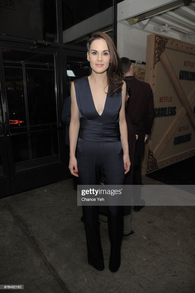 Michelle Dockery attends 'Godless' New York premiere at The Metrograph on November 19, 2017 in New York City.