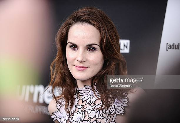 Michelle Dockery attends the 2016 Turner Upfront at Nick Stef's Steakhouse on May 18 2016 in New York New York