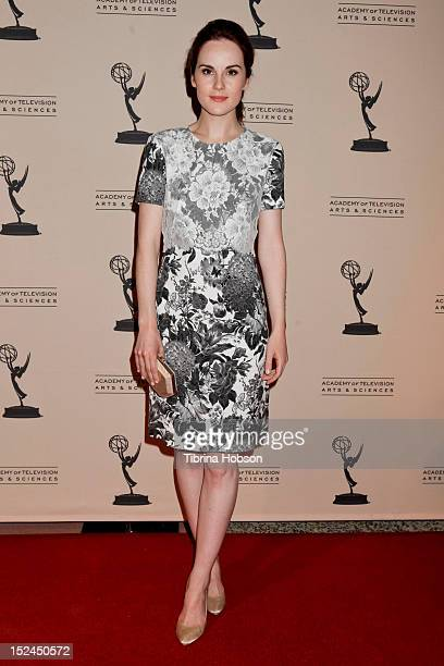 Michelle Dockery attends the 64th primetime Emmy Awards writers' nominee reception at Academy of Television Arts Sciences on September 20 2012 in...