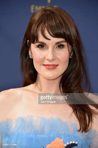 Michelle Dockery attends the 70th Emmy Awards at Microsoft Theater on September 17 2018 in Los Angeles California