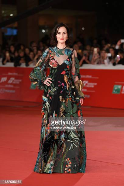 """Michelle Dockery attends the """"Downton Abbey"""" red carpet during the 14th Rome Film Festival on October 19, 2019 in Rome, Italy."""