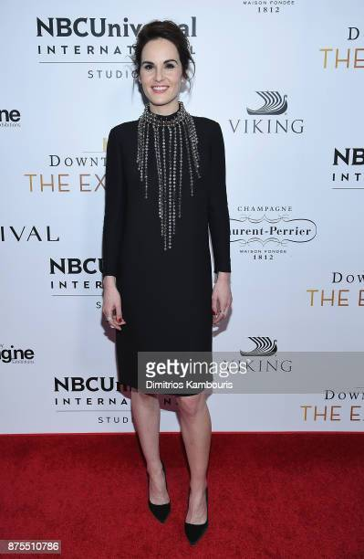 Michelle Dockery attends the Downton Abbey The Exhibition Gala Receptionon November 17 2017 in New York City