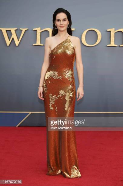 Michelle Dockery attends the Downton Abbey World Premiere at Cineworld Leicester Square on September 9 2019 in London England