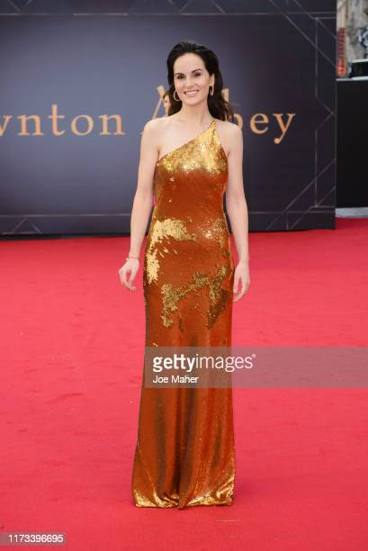 "Michelle Dockery attends the ""Downton Abbey"" World Premiere at Cineworld Leicester Square on September 09, 2019 in London, England."