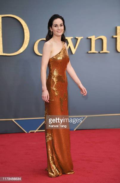 Michelle Dockery attends the Downton Abbey World Premiere at Cineworld Leicester Square on September 09 2019 in London England