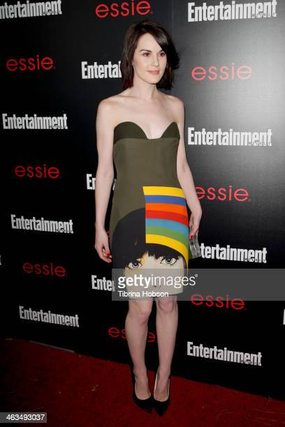 Michelle Dockery attends the Entertainment Weekly SAG Awards preparty at Chateau Marmont on January 17 2014 in Los Angeles California