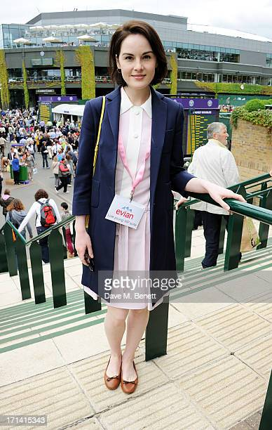 Michelle Dockery attends the evian 'Live Young' Suite at Wimbledon on June 24 2013 in London England