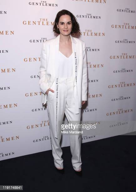 "Michelle Dockery attends ""The Gentleman"" Special Screening at The Curzon Mayfair on December 03, 2019 in London, England."