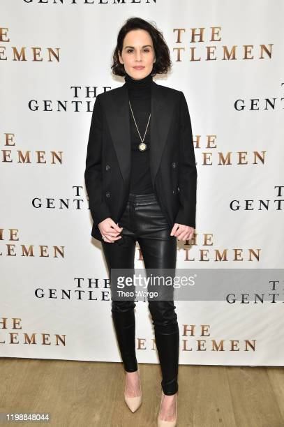 Michelle Dockery attends The Gentlemen New York Photo Call at the Whitby Hotel on January 11 2020 in New York City