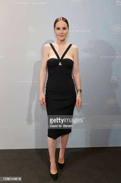 Michelle Dockery attends the launch of the new Range Rover at The Royal Opera House on October 26, 2021 in London, England.