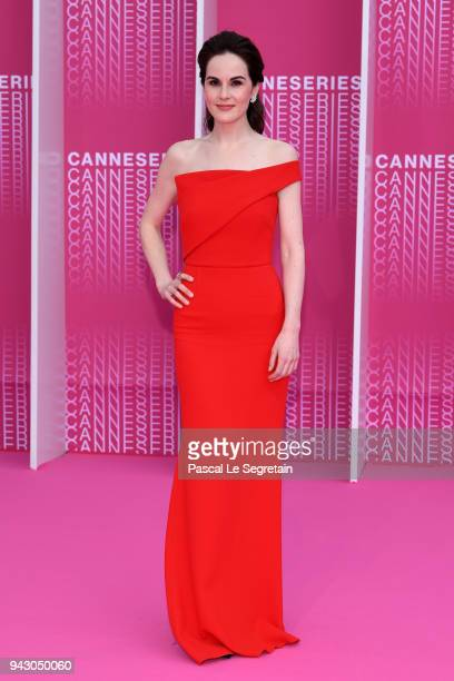 Michelle Dockery attends the Launch of the Official Competition and The Truth About The Harry Quebert Affair screening during the 1st Cannes...