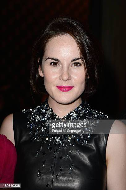 Michelle Dockery attends the Miu Miu show as part of the Paris Fashion Week Womenswear Spring/Summer 2014 at Palais d'Iena on October 2 2013 in Paris...