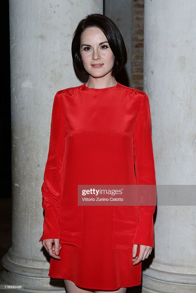Michelle Dockery attends the Miu Miu Women's Tales dinner hosted by Miuccia Prada at the Ca' Corner on August 29, 2013 in Venice, Italy.