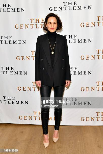 Michelle Dockery attends the NY Photo Call for The Gentlemen at The Whitby Hotel on January 11 2020 in New York City
