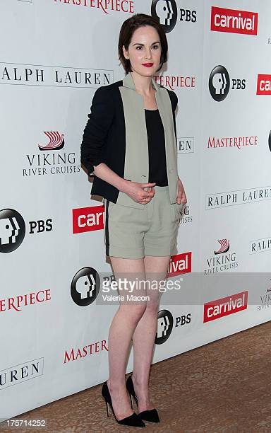 Michelle Dockery attends the PBS History's 'Downton Abbey' Season 4 Photo Call at The Beverly Hilton Hotel on August 6 2013 in Beverly Hills...