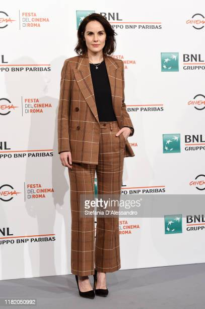 """Michelle Dockery attends the photocall of the movie """"Dowton Abbey"""" during the 14th Rome Film Festival on October 19, 2019 in Rome, Italy."""