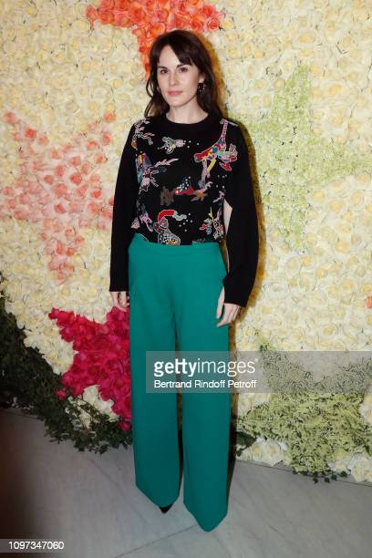 Michelle Dockery attends the Schiaparelli Haute Couture Spring Summer 2019 show as part of Paris Fashion Week on January 21 2019 in Paris France