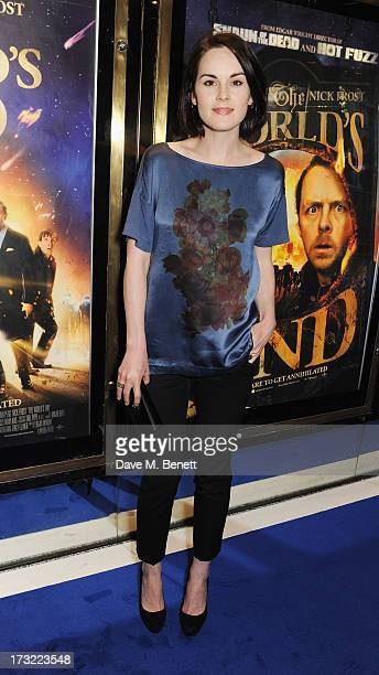 Michelle Dockery attends the World Premiere of 'The World's End' at Empire Leicester Square on July 10, 2013 in London, England.
