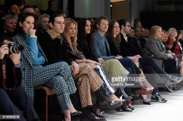 Michelle Dockery James Righton Sienna Miller Keira Knightley Simon Woods Chelsea Clinton and Marc Mezvinsky wearing Burberry at the Burberry February...
