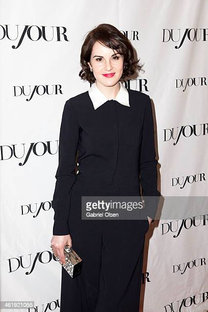 Michelle Dockery joins DuJour Magazine's Jason Binn with editors Nicole Vecchiarelli Keith Pollock as they celebrate The Great Performances issue...