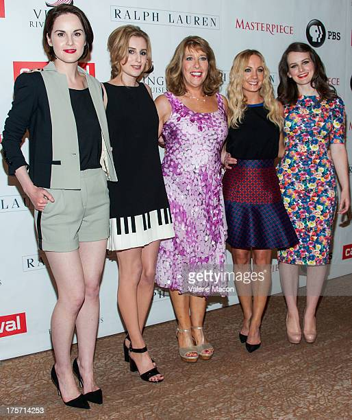 Michelle Dockery Laura Carmichael Phyllis Logan Joanne Froggatt and Sophie McShera attends the PBS History's 'Downton Abbey' Season 4 Photo Call at...