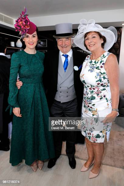 Michelle Dockery Michael Dockery and Lorraine Dockery attend the Longines suite in the Royal Enclosure during Royal Ascot on June 22 2018 in Ascot...